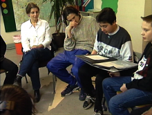 Gruppenbesprechung im Unterricht