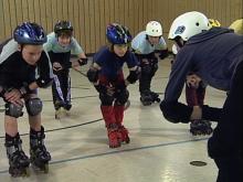 Inlineskaten lernen: Bremsübung
