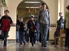 Schüler in einer Schule mit Jahrgangskombination