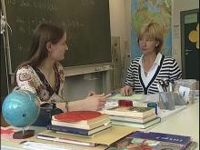 Lehrergespräch in einer Kooperationsklasse
