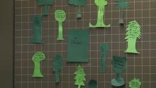 Tafelbild mit Bäumen